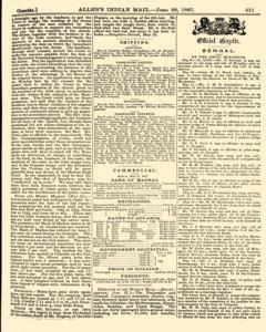 London Allen Indian Mail and Official Gazette, June 28, 1867, Page 9