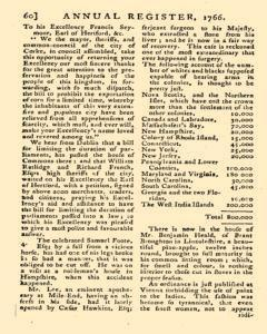 London Annual Register, January 01, 1766, Page 63