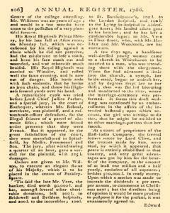 London Annual Register, January 01, 1766, Page 109