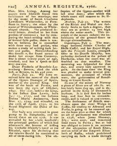 London Annual Register, January 01, 1766, Page 123