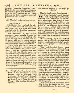 London Annual Register, January 01, 1766, Page 233