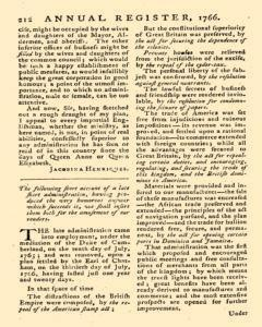 London Annual Register, January 01, 1766, Page 450