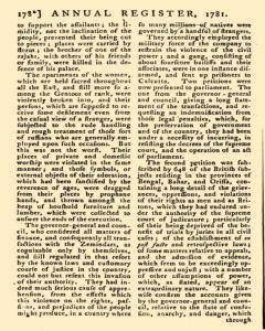 London Annual Register, January 01, 1781, Page 181
