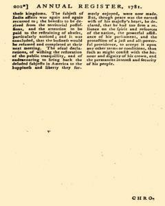 London Annual Register, January 01, 1781, Page 205