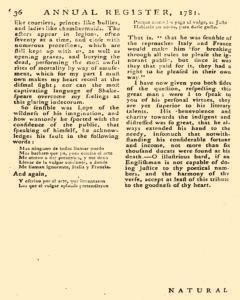 London Annual Register, January 01, 1781, Page 421