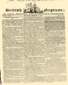 London British Neptune Or Naval Militar And Fashionable Advertiser