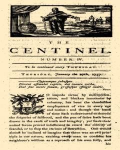 London Centinel, January 27, 1757, Page 1