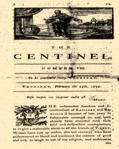 London Centinel, February 24, 1757, Page 1