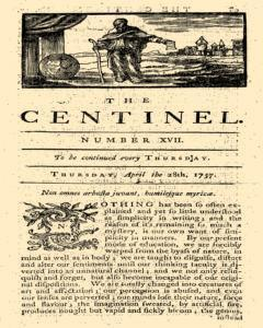 London Centinel newspaper archives