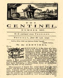 London Centinel, June 23, 1757, Page 1