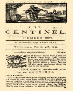 London Centinel, June 30, 1757, Page 1