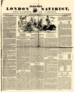 London Cleave Satirist And Gazette Of Variety