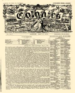 London Colonies, May 17, 1872, Page 1