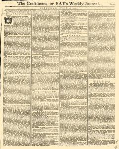 London Craftsman Or Say Weekly Journal, April 13, 1776, Page 1