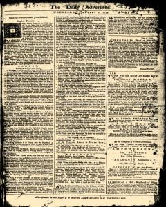 London Daily Advertiser, January 01, 1734, Page 1