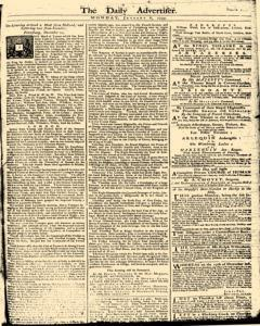 London Daily Advertiser, January 06, 1734, Page 1