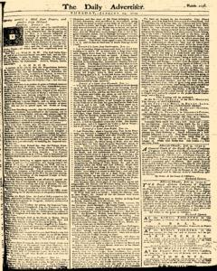 London Daily Advertiser, January 14, 1734, Page 1