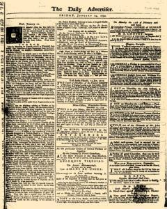 London Daily Advertiser, January 24, 1734, Page 1