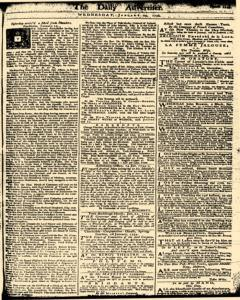 London Daily Advertiser, January 29, 1734, Page 1