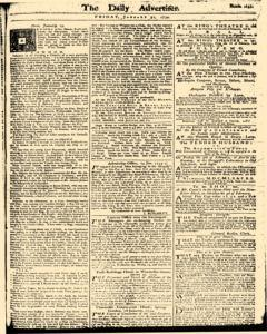 London Daily Advertiser, January 31, 1734, Page 1