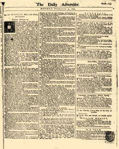 London Daily Advertiser, February 03, 1734, Page 1