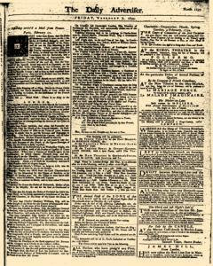 London Daily Advertiser, February 07, 1734, Page 1