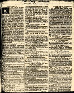 London Daily Advertiser, February 08, 1734, Page 1