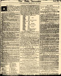 London Daily Advertiser, February 13, 1734, Page 1