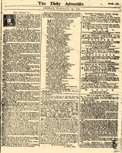 London Daily Advertiser, February 14, 1734, Page 1