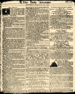 London Daily Advertiser, February 24, 1734, Page 1
