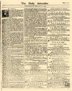 London Daily Advertiser, March 06, 1734, Page 1