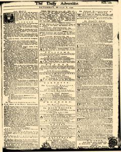 London Daily Advertiser, March 08, 1734, Page 1