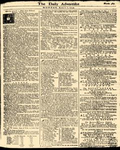 London Daily Advertiser, April 01, 1734, Page 1