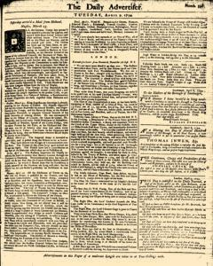 London Daily Advertiser, April 09, 1734, Page 1