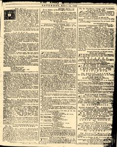London Daily Advertiser, April 13, 1734, Page 1
