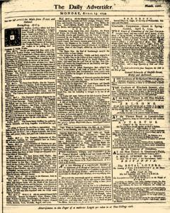 London Daily Advertiser, April 15, 1734, Page 1