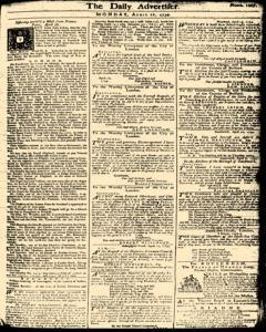 London Daily Advertiser, April 22, 1734, Page 1