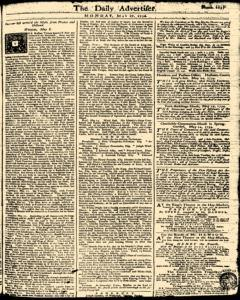 London Daily Advertiser, May 27, 1734, Page 1