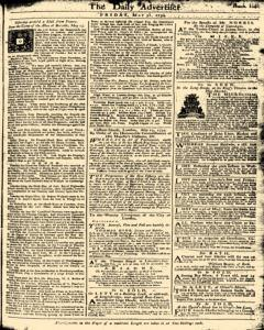 London Daily Advertiser, May 31, 1734, Page 1