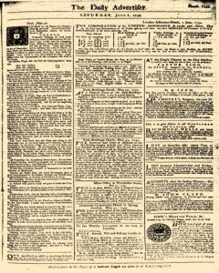 London Daily Advertiser, June 01, 1734, Page 1