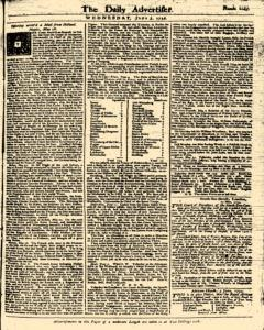 London Daily Advertiser, June 05, 1734, Page 1