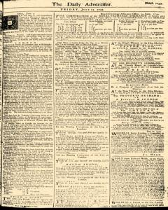 London Daily Advertiser, June 14, 1734, Page 1