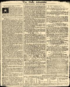 London Daily Advertiser, June 20, 1734, Page 1