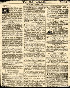 London Daily Advertiser, June 21, 1734, Page 1