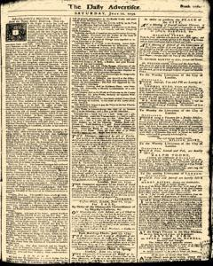 London Daily Advertiser, June 22, 1734, Page 1