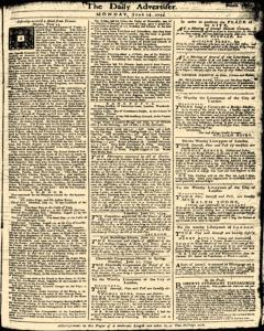 London Daily Advertiser, June 24, 1734, Page 1