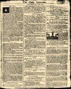 London Daily Advertiser, June 28, 1734, Page 1