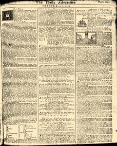 London Daily Advertiser, July 05, 1734, Page 1