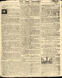 London Daily Advertiser, July 10, 1734, Page 1