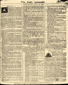 London Daily Advertiser, July 13, 1734, Page 1